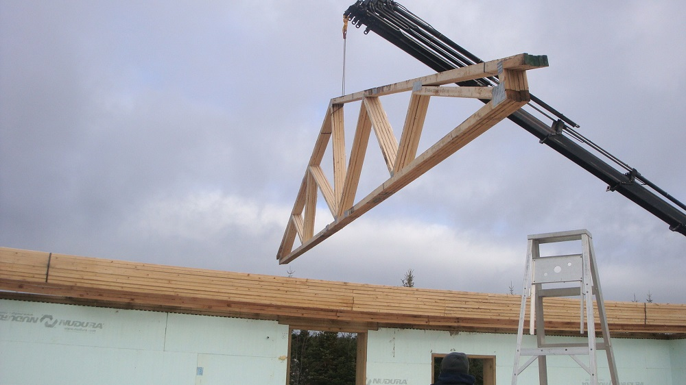 Roof Trusses And Exterior Roofing On Our New Off Grid Icf
